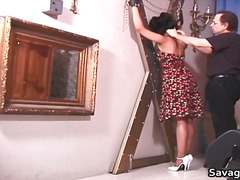 Sexy housewife rosa is tied in ropes part6