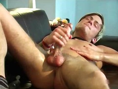 Cute blonde sexy guy have fun jerking his big dick