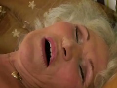 Horny busty granny mas... video