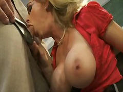 Ball sucking mature blonde... - 08:00