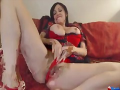 screaming, dildo, orgasm, milf