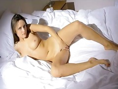 Beauty caresses her pussy video