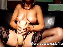 Mature slut fucks a gi... preview