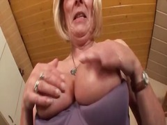mature, granny, blonde,