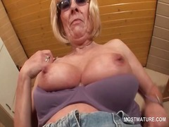Kinky mature in glasses st... - 05:10