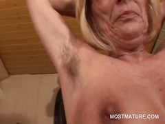 Kinky mature in glasse... video