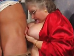 mature, bbw, granny, facial,