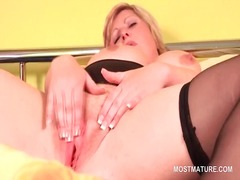 Fat blonde mature plea...