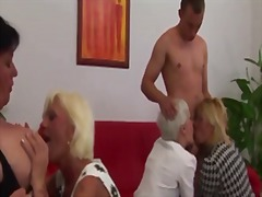 lesbian, granny, hairy, group,
