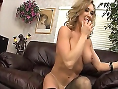 Vporn - Brandi Love stuffs her pussy full of a massive toy