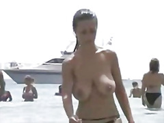 Thumb: Spanish topless beauty...