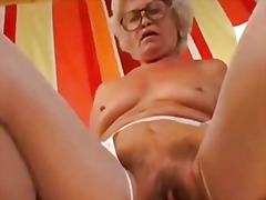 Granny gets fucked for... video