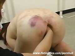 Brutally fist fucked a... video