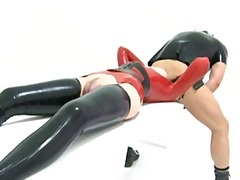 Xhamster Movie:Latex fun with toys..