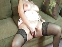 mature, fingering, boobs, finger,