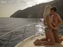 Luxury art coitus on the yacht