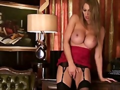 See: Busty beauty gets horny
