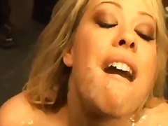 group, blonde, orgy, cumshot, busty