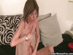 Thumb: Very skinny granny str...
