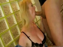 Sexy busty grandma get... video