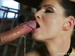 Curious brunette wife india summer tr...