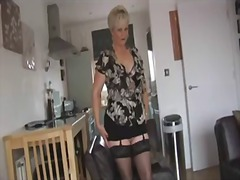 milf, booty, ass, stockings, blonde,