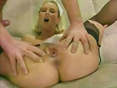 8 guys 1 girl creampie...