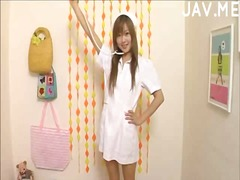 Hot japanese babe in f... video