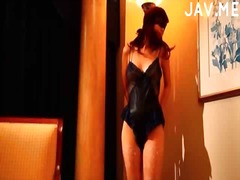 Japanese in lingerie m...