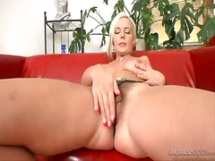 finger, shaved, milf,