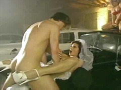 Bride girl on a classi... video