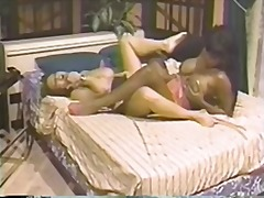 Hot black and white lesbians fuck eac...