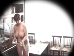 cam, tits, big boobs, spy, brunette,