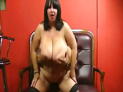 Huge barmaid jump on cock preview