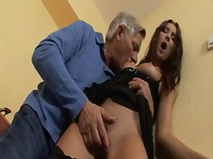 Horny grandpa christoph clark is delighting young kattie gold with zealous anal fingering