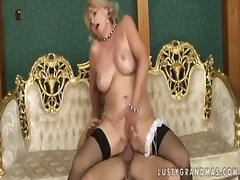 Mature blonde woman is...