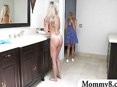 threesome, blonde, teen, milf,