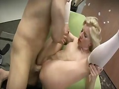 See: Sexy young blonde with...