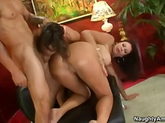 cougar, threesome, ass, fucking, milf, friend, busty