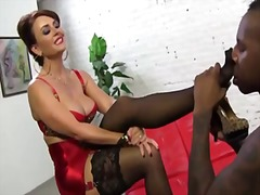 Thumb: Interracial footjob : ...