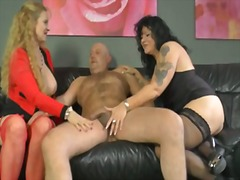 mature, blonde, group, cumshot,