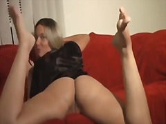 Jerk to her legs. joi video