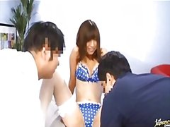 Redtube Movie:An asian chick with two guys -...