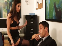 Hot secretary in stock... video