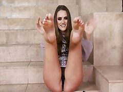 Thumb: Tori black feet fetish