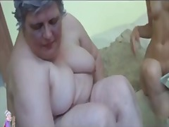 PornHub Movie:Old busty granny playing with ...