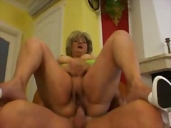 hard, blonde, mature, couch, mom
