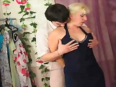 Blonde mature fucks hard