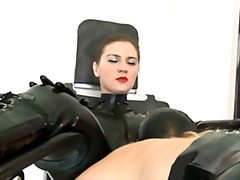 Xhamster Movie:Shaving lesbians - with latex ...