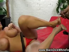 blonde, interracial, tits, foot, big boobs, fetish, weird, bbc, kinky, feet, orgasm, cumshot, footjob